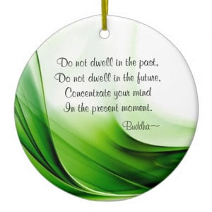 wise_buddha_quotes_abstract_christmas_ornament ...