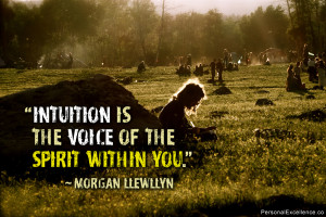 """Inspirational Quote: """"Intuition is the voice of the spirit within ..."""