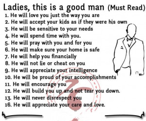 Ladies, this is a good man(Must Read)