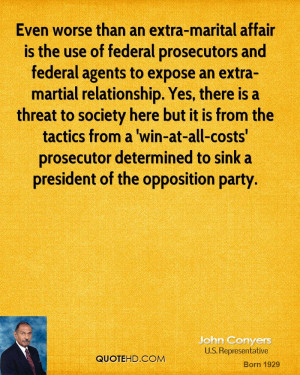 Even worse than an extra-marital affair is the use of federal ...