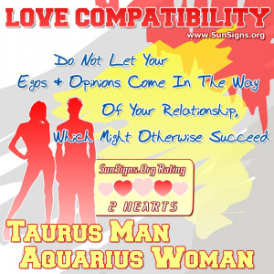 Taurus Man aquarius Woman Love