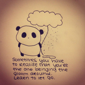 drawing doodle sad panda doodles draw moody let go life quote quotes