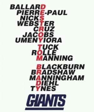 Thread: GIANTS acronyms...