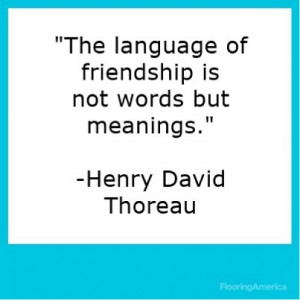 Henry david thoreau, quotes, sayings, on friendship, meanings