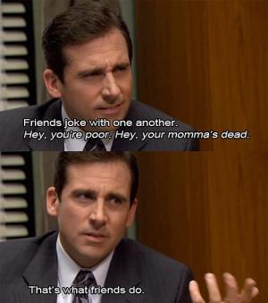 the office - friends joke