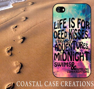Vibrant Colorful Galaxy Adventure Quote Apple iPhone 4 and 5 Hard ...