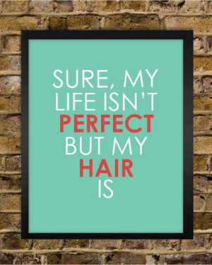 Perfect Hair Quote Print - Hair Stylist Gift - Salon Decor - Stylist ...