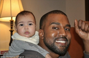 Kanye West Gives Baby North West A Piggyback In New Instagram Pic