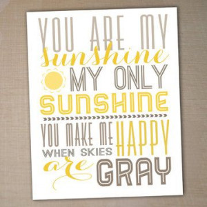 you+are+my+sunshine+printable+typography+poster+by+westwillow,+$5.00