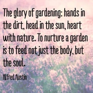 Gardening for the soul.,,