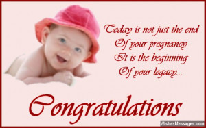 Beautiful quote to congratulate parents of newborn baby