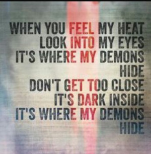 demons, imagine dragons, lyrics, quote, radioactive, song