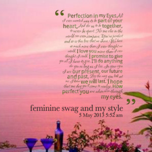 Quotes About: And for us to be together
