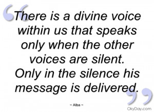 there is a divine voice within us that