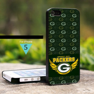 Green Bay Packers NFL Logo Life Quotes - For iPhone 5 Black Case Cover