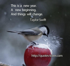 This is a new year. A new beginning. And things will change. #Change # ...