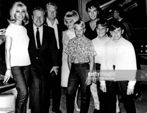 News Photo : Elvis Presley and his family including his father...