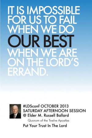 ... , Lord Bi Elder, Elder M Russell, Ldsconf Card, M Russell Ballard