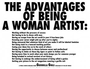 Poster: Aadvantages of being a woman artist