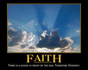 Have faith- Will do!!