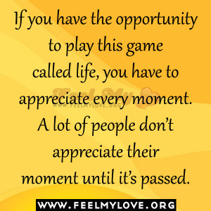 The beautiful game called life