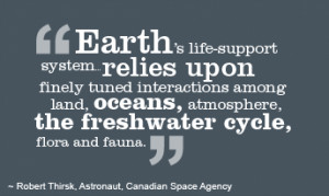 Earth's life-support system… relies upon finely tuned interactions ...