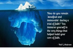 Amazing Faith God quote with inspiring image