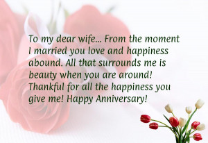Anniversary message to husband from wife