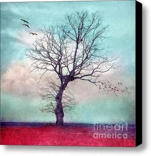 ATMOSPHERIC TREE - Longing for spring #Stretched #Canvas #Print ...