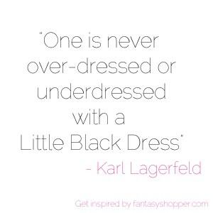 - Karl Lagerfeld #fashion #quotes Black Dresses, Lagerfeld Fashion ...