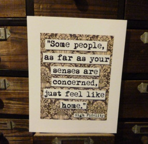 High Fidelity Home Movie Quote Print (p157)