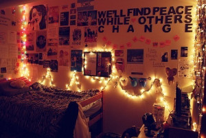 ... christmas lights, covers, laptop, pillows, posters, room, tumblr room