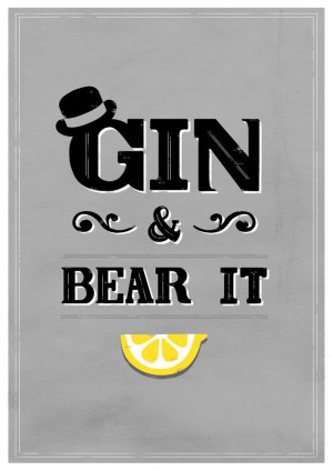 Haha - I love this. I'm craving a gin and tonic. Buying some today and ...