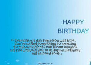 my son birthday quotes