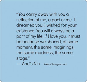 Anais Nin quotes you carry away with | YazsyDesigns.com