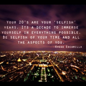 Your 20s