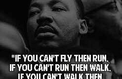 Martin Luther King JR quote on moving forward