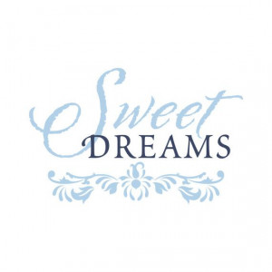 Sweet Dreams - Shabby Chic Vinyl Wall Decal Quote Lettering Decor ...