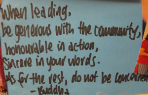 Inspirational Quote for the Week - Buddha & Leadership