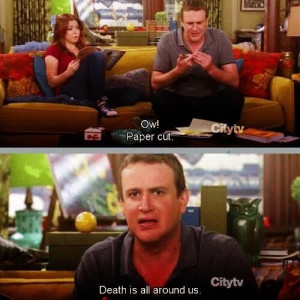 ... funny, how i met your mother, jason segel, lily, marshall, quote