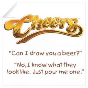... Wall Art > Wall Decals > Cheers Norm Beer Quote Wall Art Wall Decal