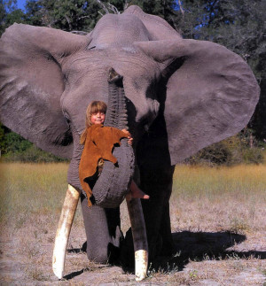 photographs her parents took of Tippi as a small girl getting up close ...