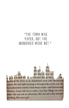 Just finished Paper Towns. Another brilliant piece of work written by ...