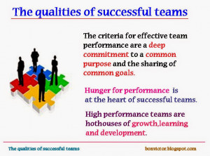 The qualities of successful teams