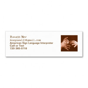 Sign Language Interpreter Double-Sided Mini Business Cards (Pack Of 20 ...