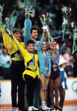 Podium @ 1988 Olympics, Katia Gordeeva & Sergei Grinkov