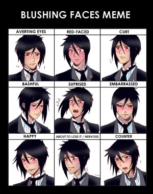 Sebastian Michaelis blush