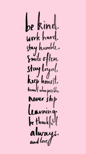 ETC INSPIRATION BLOG INSPIRATIONAL QUOTE BE KIND WORK HARD STAY HUMBLE ...