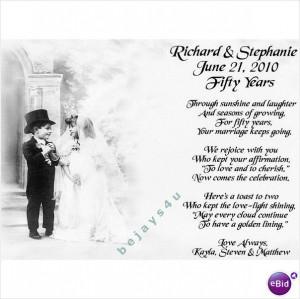 50th Wedding Anniversary Poems | 50th Wedding Anniversary ...