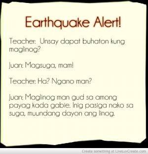 Bisaya Earthquake Joke